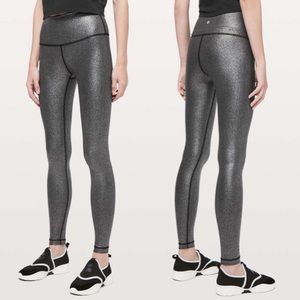 NWT Lululemon Wunder Under High Rise Foil Leggings